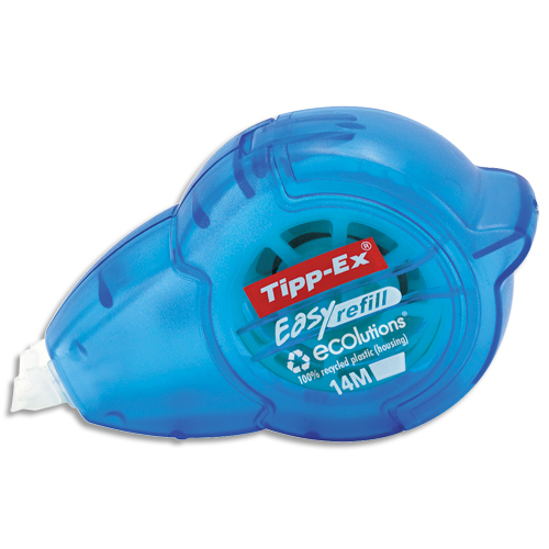 Code 7422300, Désignation: TIPP EX Roller de correction rechargeable Easy refill 5mmx14 mètres. Application frontale